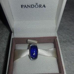 💜Pandora Midnight Blue Murano charm